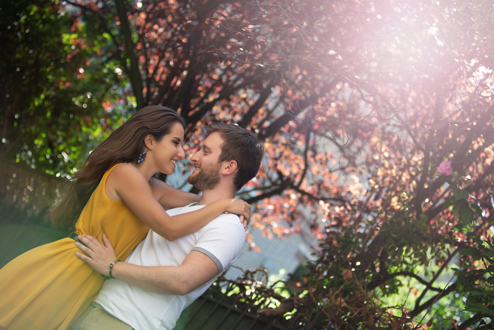 Shooting photo couple exterieur Paris