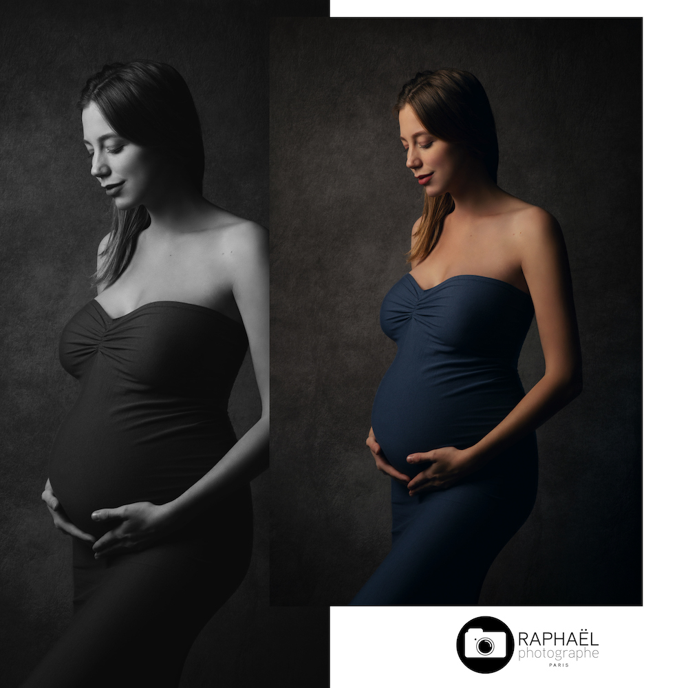 photographe couple paris femme enceinte Paris studio