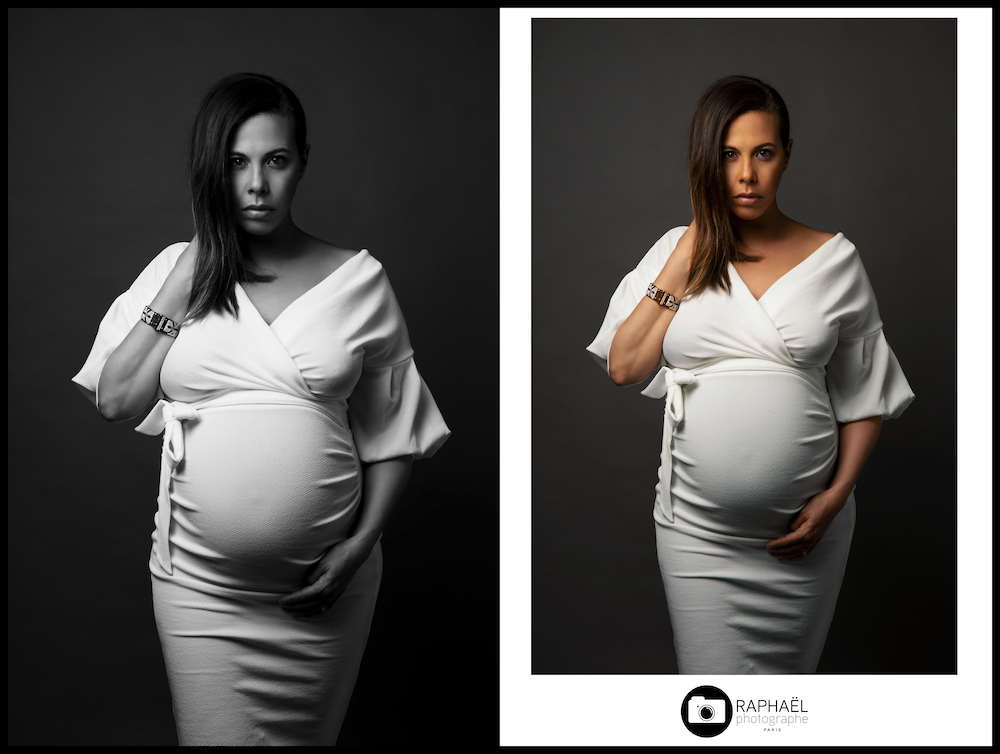 Photographe grossesse Paris studio